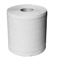 WHITE Centrefeed Barrel Roll 2ply 150m