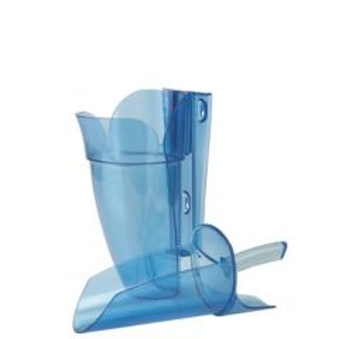 Saf-T-Scoop Blue Polycarbonate Ice Scoop 12-16oz with Guardian Holder