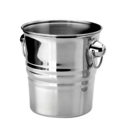Stainless Steel Ribbed Walled Champagne Bucket 19cm Diameter 20cm Tall