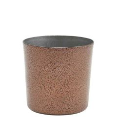"""Hammered Copper Finished Stainless Steel Serving Cup 3.3"""" /8.5cm 14.8oz/42cl"""