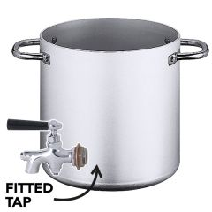 "Aluminium Heavy Duty Stockpot with Tap 100Ltr, 20"" / 50cm"