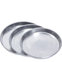 "Aluminium Tapered Pizza Pan with Rim 10x1.5"" / 25.5x4cm"