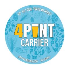 Four Pint Carrier Round Label 100mm Diameter