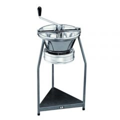 """Tellier P10 Moulin Grater Tinned Steel on Stand with 3mm Sieve 16"""" / 39cm"""