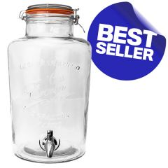 Old Fashioned Drinks Dispenser with Stainless Steel Tap 7Ltr