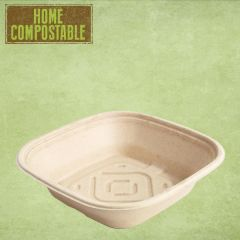 Sabert Home Compostable BePulp Square Catering Bowl 27x27x7cm 2.25Ltr