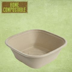 Sabert Home Compostable BePulp Square Catering Bowl 27x27x9cm 3.5Ltr