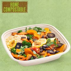 Sabert Home Compostable BePulp Square Catering Bowl 36x36x7cm 4.5Ltr