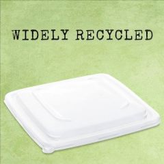 Sabert Recyclable Clear rPET Lid for Square Tray 23x23cm