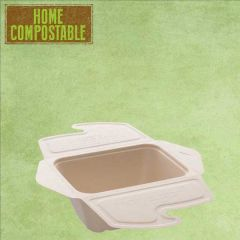 Sabert Home Compostable BePulp Takeaway Food Box 500ml 13x13x7cm