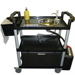 Mobile Hot Hand Wash Trolley with Round Sink 23 Litre