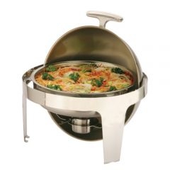 Round Roll Top Chafing Dish 6.8Ltr 50x53x45cm