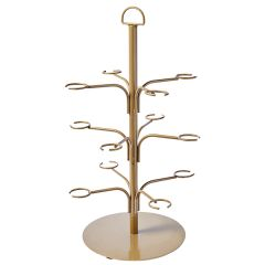 """Gold Cocktail Tree 12 Arms 22x13"""" / 56x34cm (HxD)"""