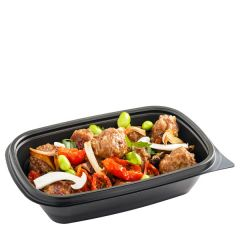 Sabert Fastpac Disposable Rectangular Container Black 20x13x5cm, 500ml