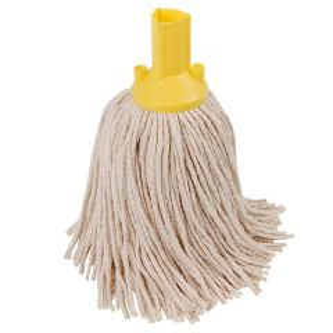 Yellow Socket Cotton Yarn Mop Head 9oz / 250g