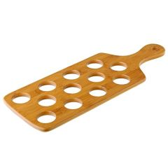"""Bamboo Shot Paddle to Hold 12 Shots 16x6"""" / 40x15.5cm"""