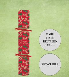 """Tom Smith Recyclable Red Foliage Christmas Cracker 11"""" / 28cm"""