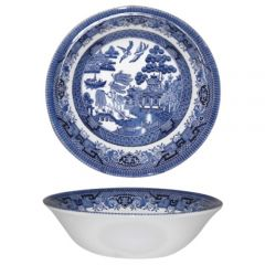 "Churchill Willow Pattern Oatmeal Bowl 6.25"" / 15.5cm"