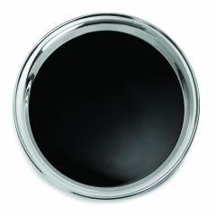 "Stainless Steel Round Tray with Non-Slip Insert 14"" / 36cm"