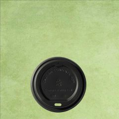 CPLA Compostable Black Lid to Fit 8oz / 22cl Hot Cup
