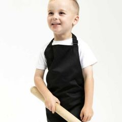 Full Infant Black Bib Apron Age 3-6 Years