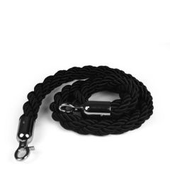 Black Barrier Real Rope with Chrome Fittings 1.5m