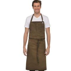 "Chef Works Dorset Chefs Bib Apron Golden Brown 40"" Long x 39"" Wide"