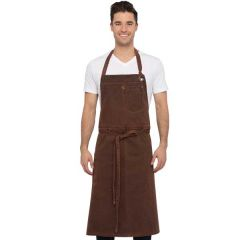 "Chef Works Dorset Chefs Bib Apron Rust 40"" Long x 39"" Wide"