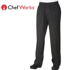 """Chef Works Cool Vent Baggy Pants Black Large 38""""-40"""""""