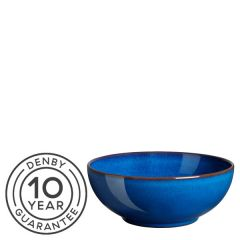 """Denby Imperial Blue Coupe Cereal Bowl 6.7"""" / 17cm"""