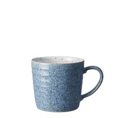 Denby Studio Blue Flint / Chalk Ridged Mug 14oz / 39.7cl