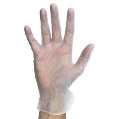 Disposable Clear Powder Free Vinyl Gloves Extra Large