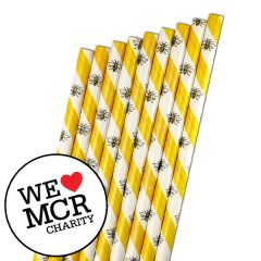 "The Manchester Bee Paper Sip Straw 5mm Bore 5.5"" / 14cm"