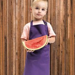 Full Infant Purple Bib Apron Age 3-6 Years