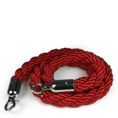 Red Barrier Real Rope with Chrome Fittings 1.5m