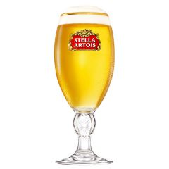 Toughened Stella Artois Branded Pint Stemmed Beer Glass CE 20oz / 57cl