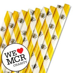 "The Manchester Bee Paper Straw 6mm Bore 8"" / 20cm"