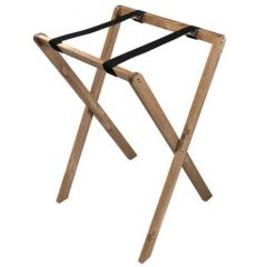 Light Oak Stained Pine Folding Tray Stand 495x445x740mm