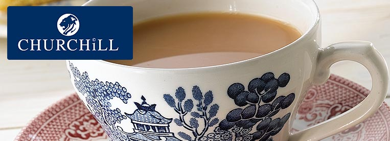 Churchill Blue Willow China Crockery from Stephensons