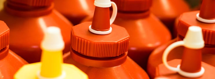 Coloured Sauce Dispenser Bottles