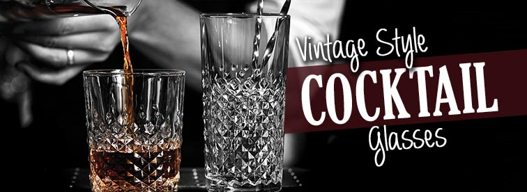 Vintage Cocktail Glasses from Stephensons catering equipment suppliers