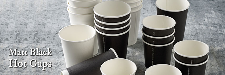 Matt Black Double Wall Hot Cups