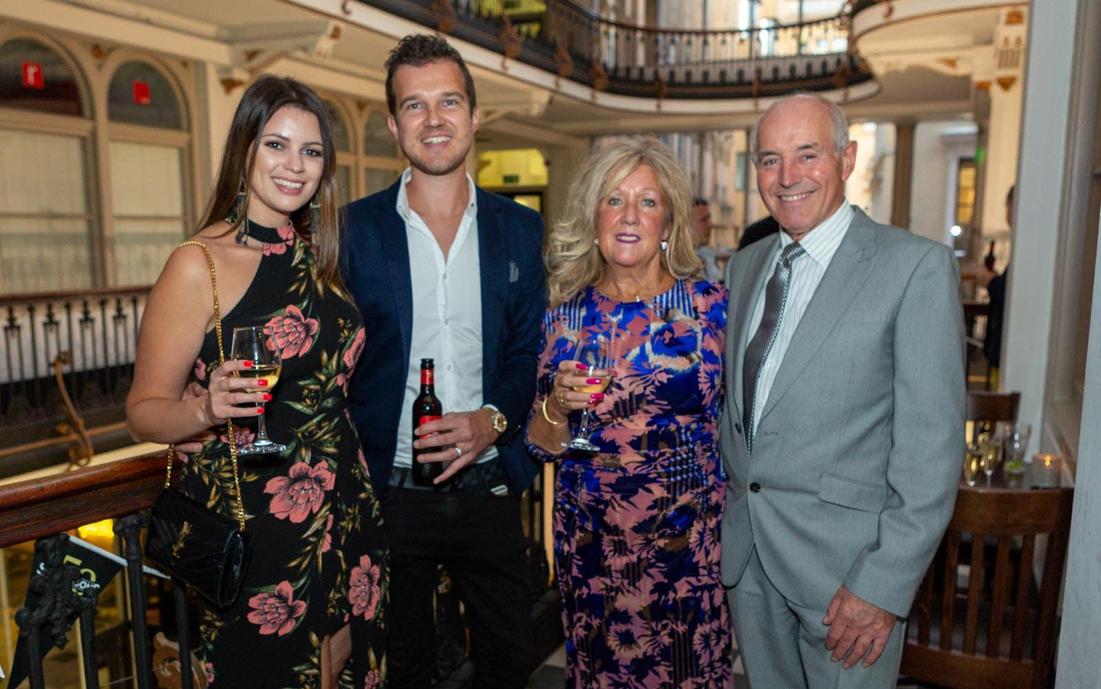 Jennifer, Jordan, Lorraine and Stewart Brookes