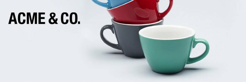 Acme & Co. Coloured Cups and Saucers from Stephensons Catering Suppliers