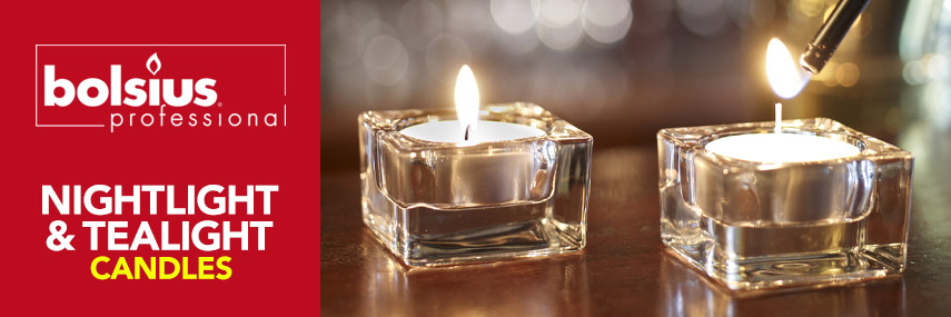 Bolsius Nightlight & Tealight Candles from Stephensons Catering Suppliers