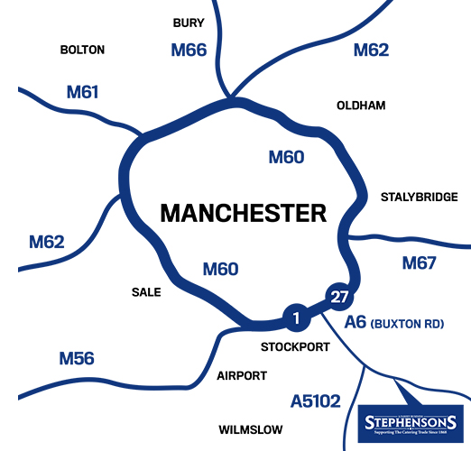 Stephensons location in Greater Manchester