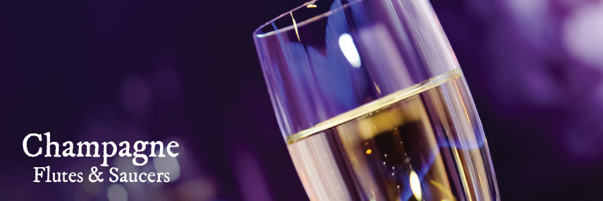 Champagne Flutes & Saucers from Stephensons Catering Suppliers