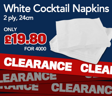 Click here for incredible savings on White Cocktail Napkins