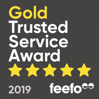 Stephenson's are proud winners of the Feefo Gold Trusted Service Award for 2019
