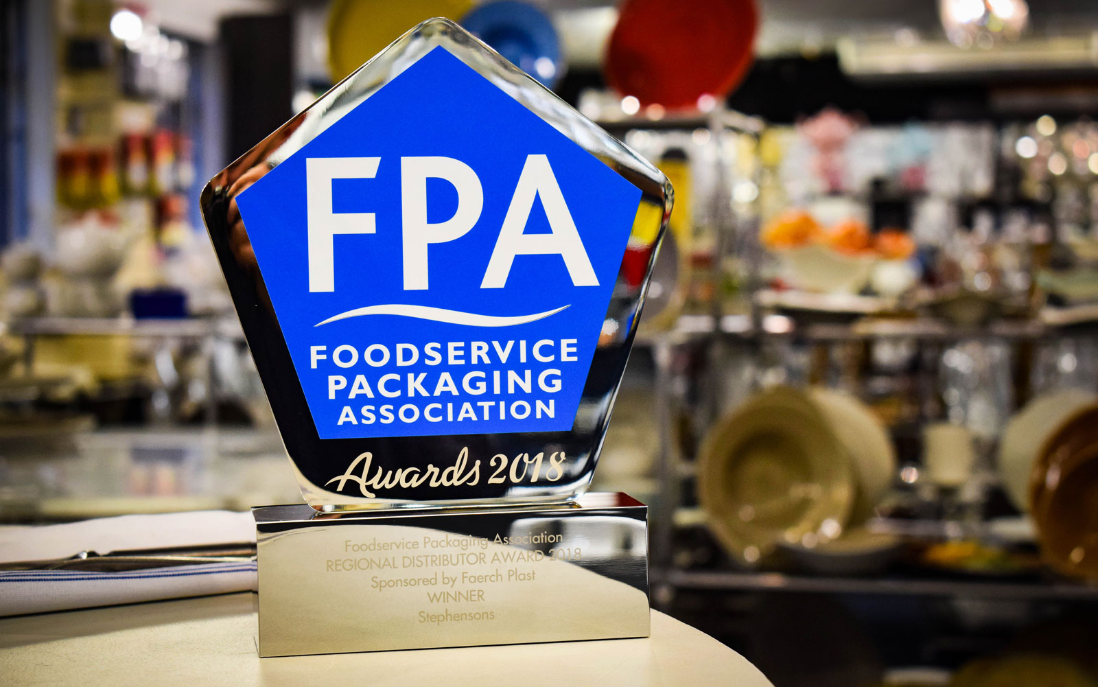 Stephensons were proud to be named Regional Distributor of the Year at the 2018 FPA Awards